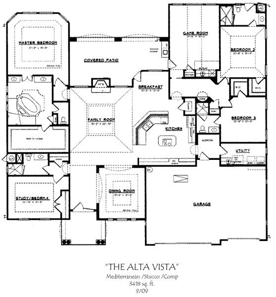 New home floor plans with basement house design ideas - One level house plans with basement paint ...
