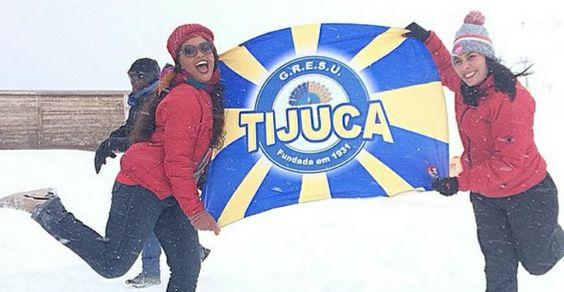 Juliana Alves apresenta o enredo da Unidos da Tijuca em St Moritz, Suíça