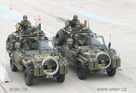 Land Rover Defender Soft Top Militar Wolf in czech republic. Love it.