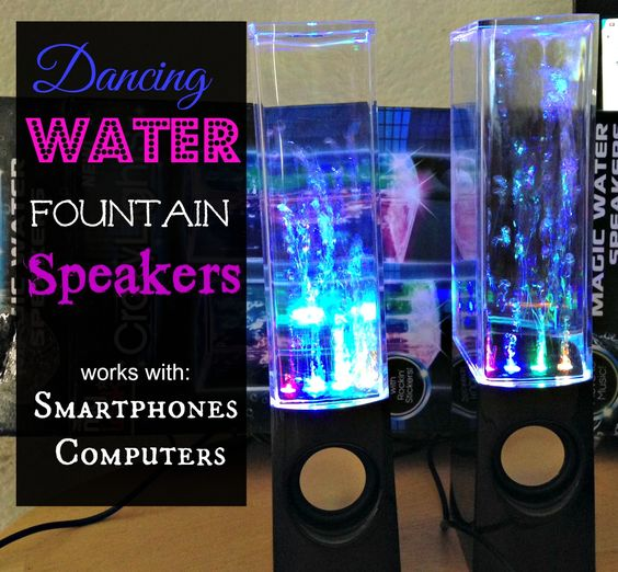 how to connect dancing water speakers to computer