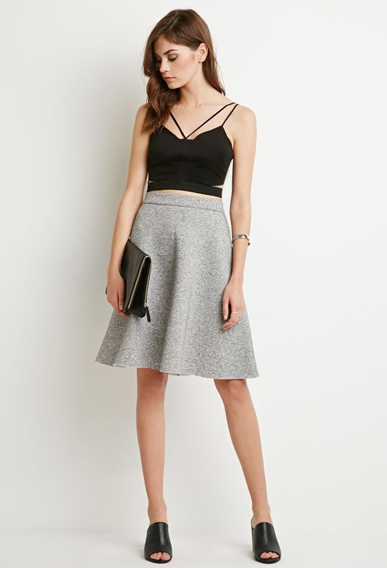 jupe chine gris ple chin 2000173916 forever 21