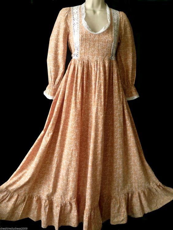 Vintage Laura Ashley Neo Victorian Bohemian Prairie Summer Maxi Dress 6 8 10 | eBay