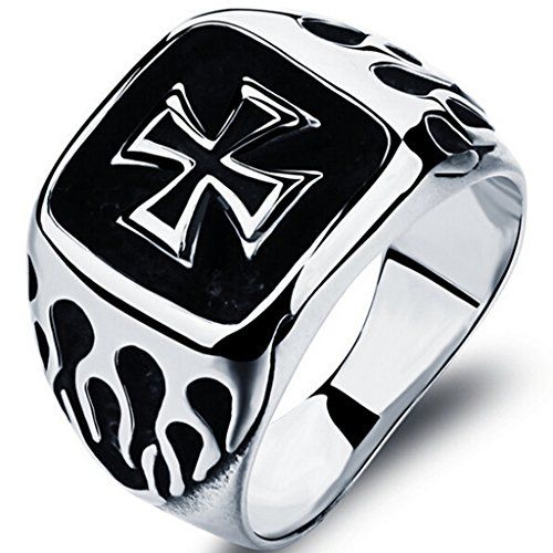 Pin By Edgar Sosa On Motos In 2020 Stainless Steel Skull Bracelet Stainless Steel Rings Iron Cross Ring