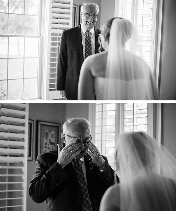 Such a sweet idea! Photos of when the father of the bride sees his daughter in her wedding dress for the first time! :):