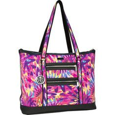Click Image Above To Purchase: Beach Paradise Cove Beach Large Tote (women's) - Groovy Sunburst