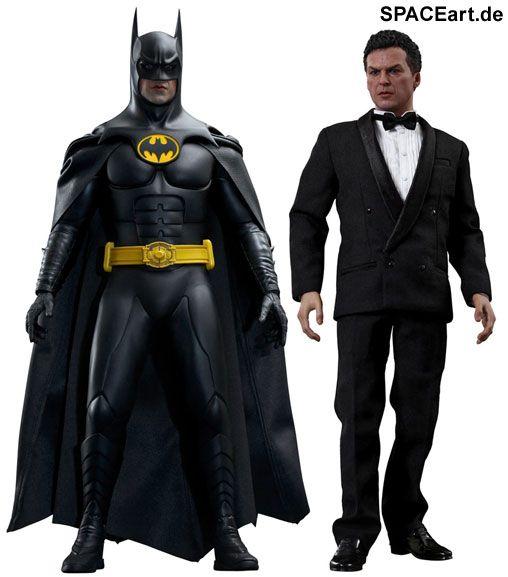 Batmans Rückkehr: Batman und Bruce Wayne   Typ: Deluxe-Figuren (voll beweglich)   Hersteller: Hot Toys   https://spaceart.de/produkte/bm024.php