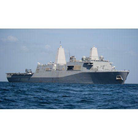 The amphibious transport dock ship USS New Orleans Canvas Art - Stocktrek Images (37 x 22)