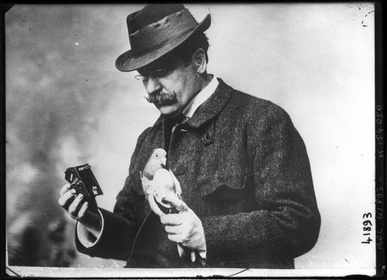 Dr Julius Neubronner's Miniature Pigeon Camera | The Public Domain Review