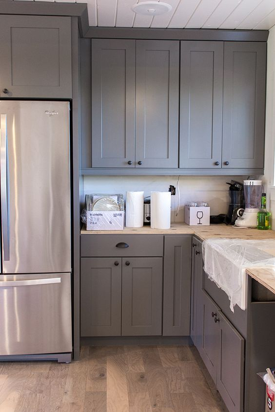 Gray Cabinets Grey And Cabinets On Pinterest