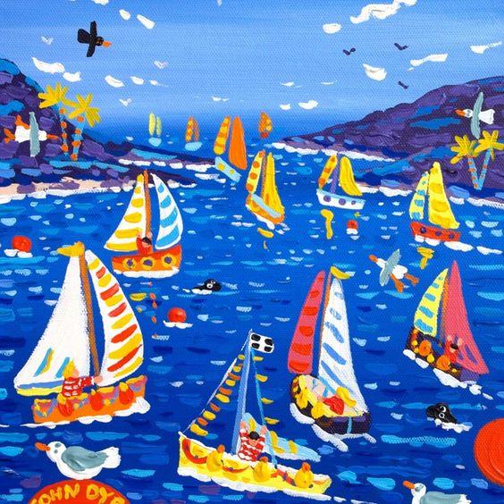 Sailing Away, Fowey Regatta | John Dyer | Original