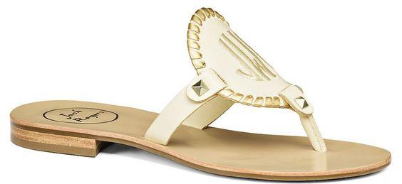 Gold Monogrammed Sandal