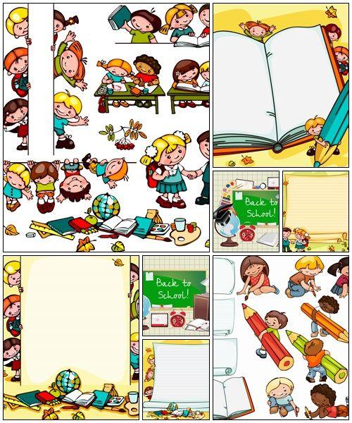 School children's background, 2 - vector background