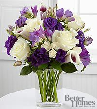 The FTD Moonlit Meadows Bouquet by Better Homes and Gardens - 18 Stems - VASE INCLUDED