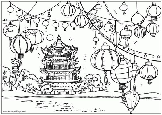 festival coloring pages - photo#10