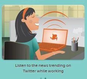 Ecoutez causer votre fil Twitter. TheSocialRadio transforme votre fil Twitter en veritable radio.