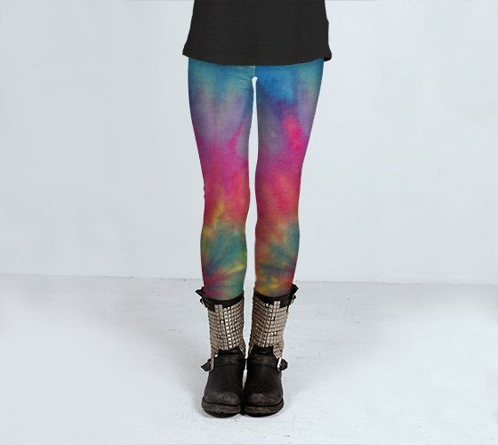 Tie Dye Leggings  Women's Leggings  Tie Dye by LKBphotography, $55.00