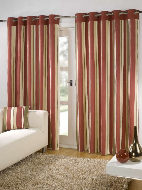 Capri - Red Ready Made Curtains (50% OFF) from £19.20 [Printed ...