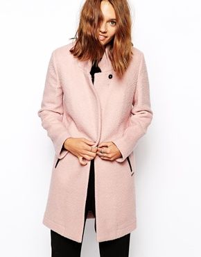 Love this blush pink coat by Maison Scotch | Fall   Winter Style