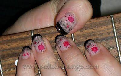 punk rock nail art