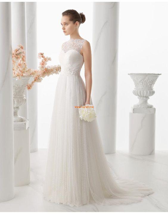 Halle Tülle Reißverschluss Brautkleider 2014
