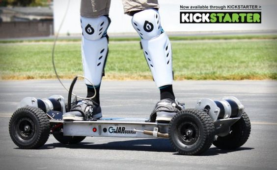 Gnarboard, an electric powered skateboard recently competed against the Chevrolet Corvette C5. Being the fastest and most powerful skateboard around, this skateboard quickly out passed the powerful vehicle in no time at all. This new electric powered skateboard is powered by four electric motors and was way ahead of the race against a 5.7 liter V8 engined vehicle with a top speed of 200 mph.