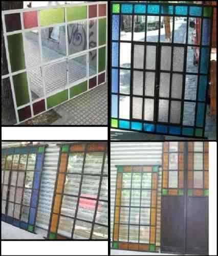 Puertas y ventanas antiguas de hierro reciclados grupodan for Puertas de madera y hierro antiguas
