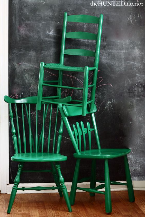 pintar sillas distintas del mismo color!