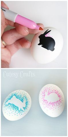 Sharpie Easter Eggs - Fun Easter egg decorating idea!