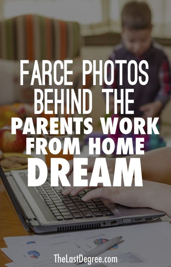 Parents Work from Home dream Mother work at home with kids at computer