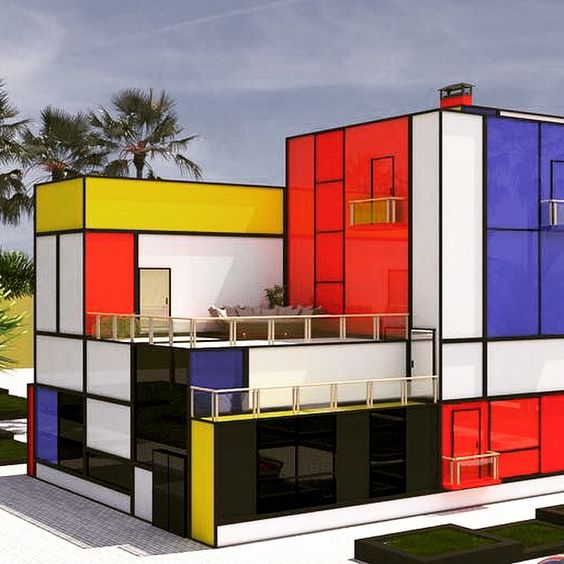 Nextbauhaus design movement mondrian house vasily for Architecture bauhaus