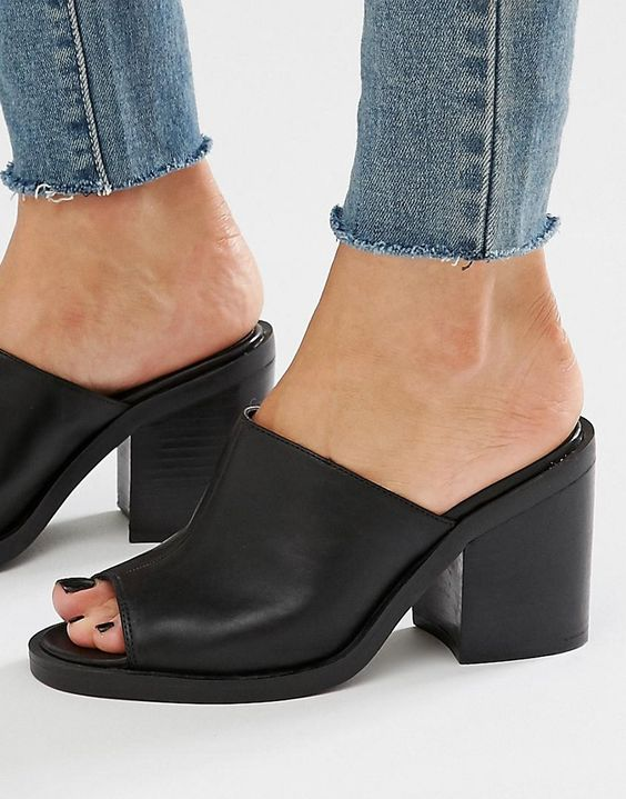 Image 1 - New Look - Mules à gros talons