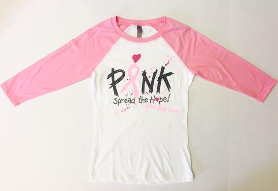 pink spread the hope, breast cancer awareness baseball tee. SoCal Volleyball #socalvbc