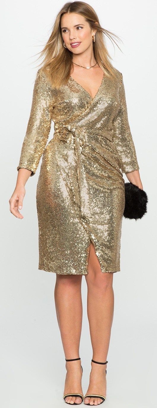 plus size gold sequin dress | good dresses