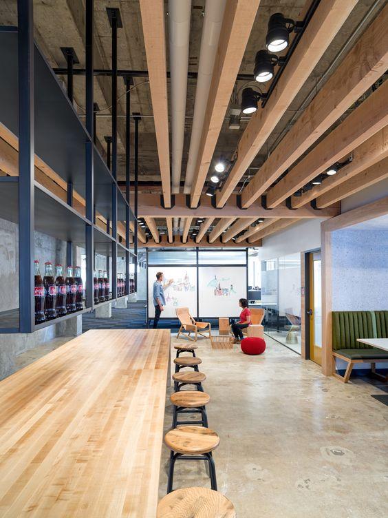 Exposed Brick Walls & Concrete Define The New Yelp Headquarters