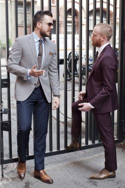 Men&39s Grey Houndstooth Blazer Light Blue Dress Shirt Navy Dress ...