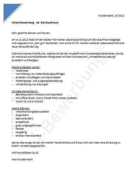 Bewerbung Als Burokaufmann Vorlage Fur Berufsanfanger Bewerbung Schreiben Bewerbung Job Wechseln