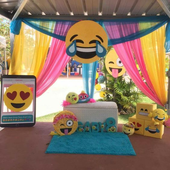 Southern Blue Celebrations Emoji Party Ideas
