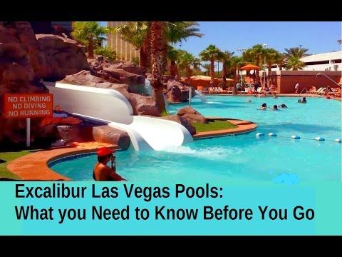 Excalibur Las Vegas Pool Video Great Pools But Annoying At The