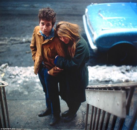 Bob Dylan and his muse, artist Suze Rotolo, walk down West 4th Street in Greenwich Village, 1961