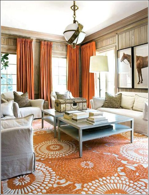 Burnt Orange And Gray Living Room Orange Curtains Living Room Living Room Orange Living Room Grey