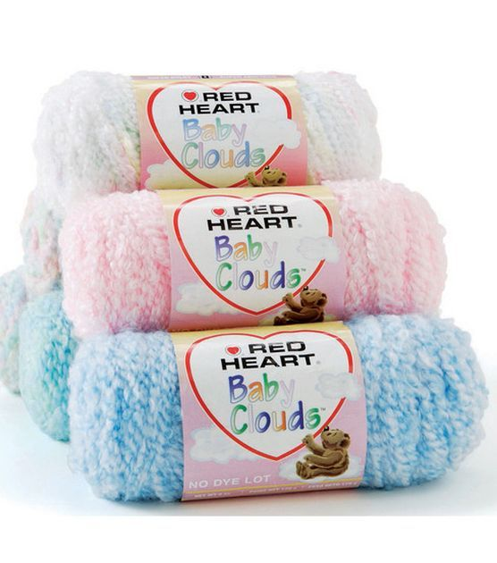 Knitting Patterns For Baby Clouds Yarn : Red Heart Baby Clouds Yarn & Yarn at Joann.com CROCHET! Pinterest H...