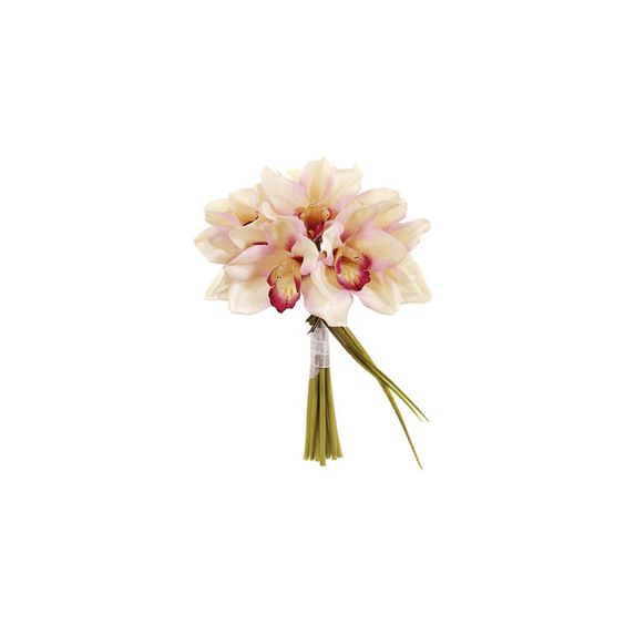 Artificial Orchid Bouquet | Wedding Flowers | Afloral.com (19 BAM) ❤ liked on Polyvore featuring home, home decor, floral decor, flowers, other, nature, flower home decor, fake flower stems, fake flower bouquets and artificial flower bouquets
