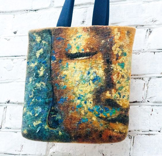 "Beautiful felted ""Buddha"" bag created by Marija Solovey"