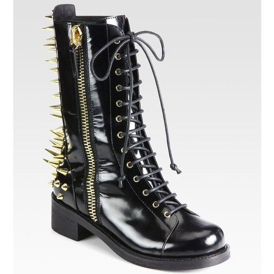 Giuseppe Zanotti Studded Leather Combat Boots