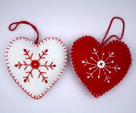 Felt christmas ornaments, Felt christmas and Christmas ornament on ...