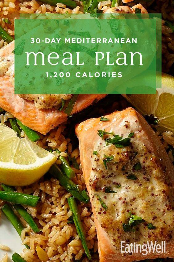 30-Day Mediterranean Diet Meal Plan: 1,200 Calories