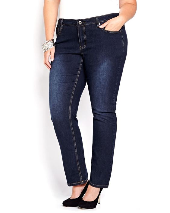 L&L Shaped Dark Wash Petite Sculpting Jean