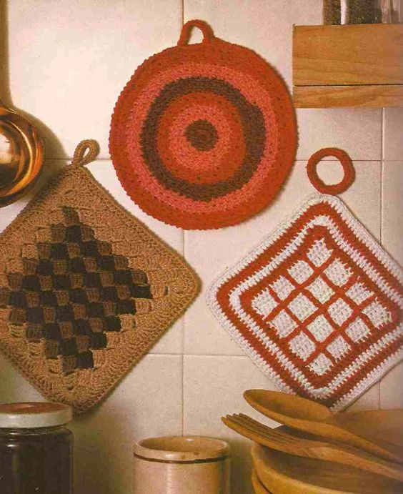 Cogedores a Crochet o Ganchillo