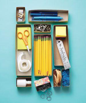 Cereal Box as Drawer Organizer