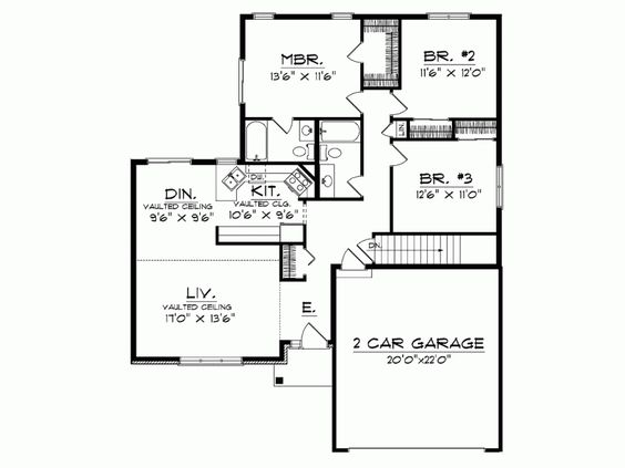 Small Modern House Plans One Floor | House List Disign